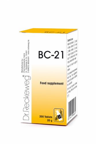Schuessler BC21 combination cell salt - tissue salt